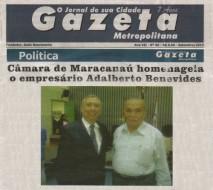 Sr. Adalberto Benevides Magalhães Filho recebe o honroso título de Cidadão Maracanauense